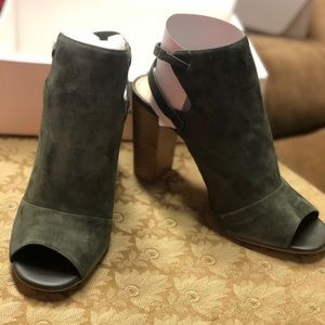 White House Black Market open toe booties